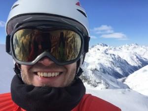 Skiing at Soelden, AT