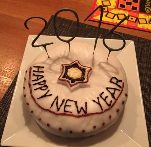 New Year even cake